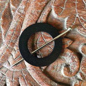 SP50-1 Mod Leather Shawl Pin