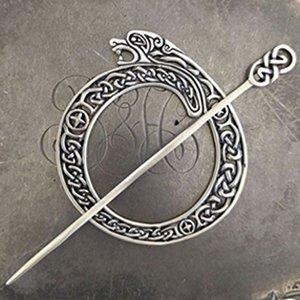 SP67 Celtic Lion Shawl  Pin