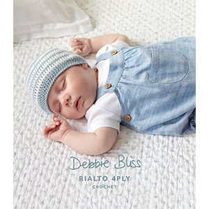 Debbie Bliss DB012 Striped Crochet Hat and Bootees