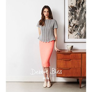Debbie Bliss DB017 Lace Panel Top